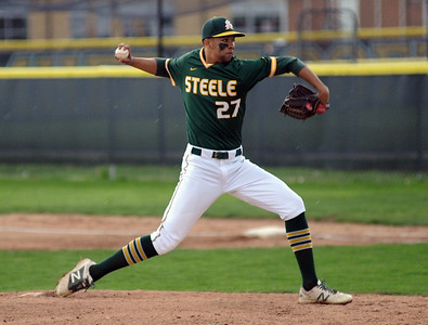 Amherst's Xavier Moore throws a pitch Monday during the Comets' 7-2 win over North Olmsted.  STEVE MANHEIM / CHRONICLE