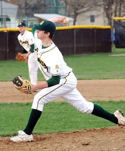 Amherst pitcher Griffin Weir on Apr. 28.  Steve Manheim
