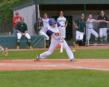 Avon's Ethan St. Clair bats Thursday against Amherst in the Division 1 District Final. JESSE GRABOWSKI / CHRONICLE