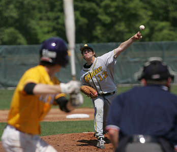 Amherst pitcher #12 Ken Menefee.    photo by Chuck Humel