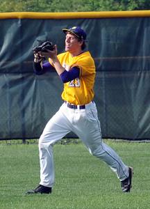 Avon Brendan Cannon makes a catch in centerfield May 19.  Steve Manheim