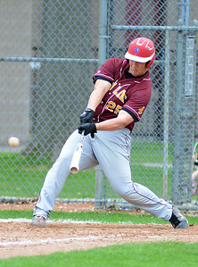 Avon Lake's Kyle Kuha bats against Elyria on Saturday. KRISTIN BAUER | CHRONICLE