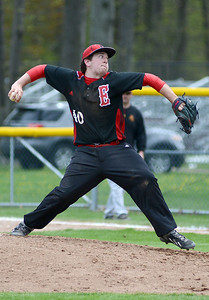 Elyria's Kevin Cloen pitches against Avon Lake. KRISTIN BAUER | CHRONICLE