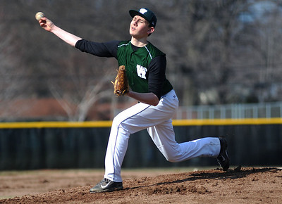 Westlake High School's Andris Balodis (4) pitches against Avon Lake High School on Tuesday afternoon, April 8 at Avon Lake High School.
