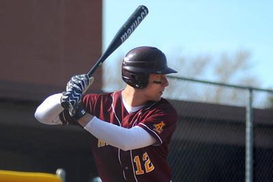 Avon Lake High School's Brad Hamilton (12) at bat against Westlake High School on Tuesday afternoon, April 8 at Avon Lake High School.