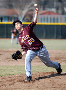 Avon Lake High School's Logan DeLong (20) pitches against Westlake High School on Tuesday afternoon, April 8 at Avon Lake High School.