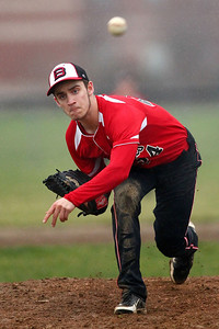 Brookside pitcher Dudley Taw throws during the second inning against Black River. AARON JOSEFCZYK/CHRONICLE