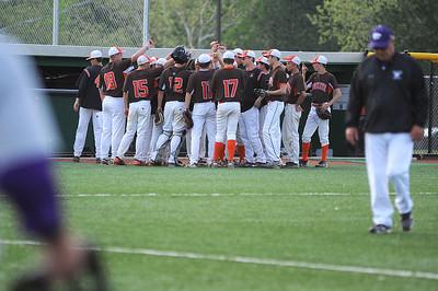 Buckeye High School celebrates a successful inning against Keystone. KRISTIN BAUER | CHRONICLE