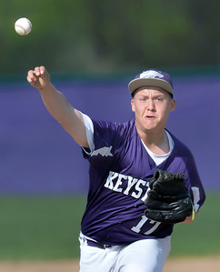 Keystone's Logan Rising delivers in the first inning against Brookside. DAVID RICHARD / CHRONICLE