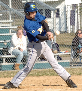 Clearview's #10 Jack Bennett gets a hit.