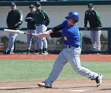 Clearview Ian Mezlak hits a two-run RBI double in third inning Mar. 29.  Steve Manheim