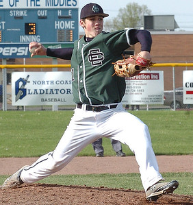 EC's starting pitcher, #11 Chris Tomshack.