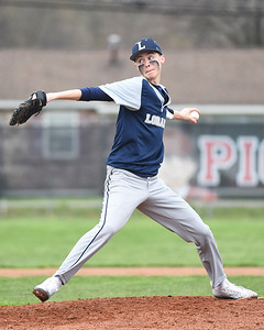 KRISTIN BAUER | CHRONICLE Lorain High School's Jayden Kender (10) pitches against Elyria on Saturday afternoon, April 15.