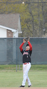 Elyria Mike Izzarelli  makes an infield catch in second inning Apr. 10.  Steve Manheim