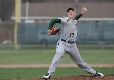 Medina's Scott Sency, not a bad day at the mound and at the plate.  photo by Chuck Humel