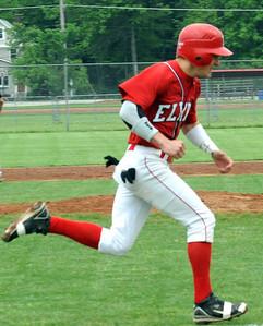Elyria Jake Neuschaefer scores a run in fifth inning May 12.  Steve Manheim
