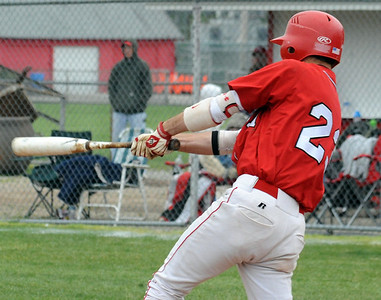 Elyria Kyle Salyan hits an RBI single in fifth inning May 12.   Steve Manheim