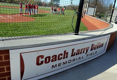 Larry DeVoe Memorial Field was dedicated in Wellington on April 17.  STEVE MANHEIM / CHRONICLE