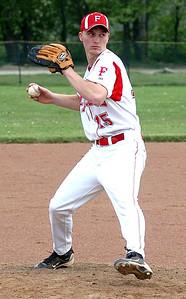 Firelands pitcher #15 Jake Myers.