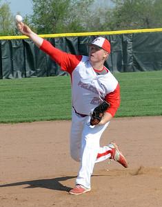 Firelands' Garrett McKinney pitches against Clearview on May 7. STEVE MANHEIM/CHRONICLE