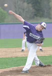 Kyler Yusko pitches for Keystone against Clearview on April 20.  STEVE MANHEIM / CHRONICLE