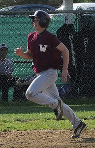 Wellington Daryn Broadwater scores in first inning May 9.  Steve Manheim