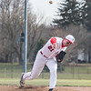 Firelands' Evan Lacey delivers a pitch Monday against Wellington during the Falcons' victory. JOE COLON / CHRONICLE