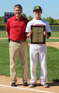 Christy Legeza CT Photo May 24, 2014 Lorain County Mr. Baseball Justin Mott