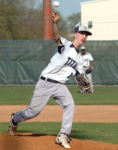 Lorain's starting pitcher, #12 Kyle Stumphauzer.
