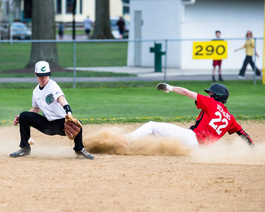 Lutheran West's Scottie Berghaus steals second base as Columbia's Cullen Nagle takes the throw during a game Monday, April 25. JOE COLON/CHRONICLE