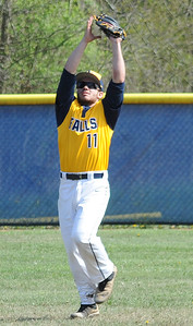 Jack Spellacy makes an outfield catch May 3. STEVE MANHEIM/CHRONICLE