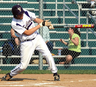 Vermilion Cameron Zima hits an RBI double in first inning Apr. 15.  Steve Manheim/CT