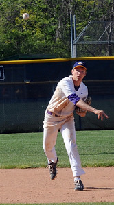 Avon's Tommy Kocar throws to first base May 19. STEVE MANHEIM/CHRONICLE