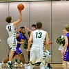 Glenoak's Corvay Chapman goes up for a shot against Avon on Sunday. JESSE GRABOWSKI / CHRONICLE