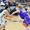 Ryan Maloy of Avon advances during the Eagles' 78-57 loss to GlenOak on Sunday. JESSE GRABOWSKI / CHRONICLE