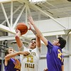 Avon's tough defense helped in their 70-67 win over Olmsted Falls Friday night. JESSE GRABOWSKI / CHRONICLE