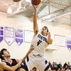 Keystone #4 Brody Kuhl drives to the basket with Wellington def