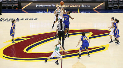 Highland tips off against Wooster at Quicken Loans Arena. (RON SCHWANE / GAZETTE)