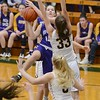 Avon's Jules Frombach goes up for points against Olmsted Falls Monday in the Division 1 semifinals. JESSE GRABOWSKI / CHRONICLE