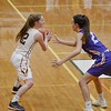 Olmsted Falls' Allison Milligan faces off against Avon's Elizabeth Flynn in the Division 1 semifinal game Monday night. JESSE GRABOWSKI / CHRONICLE
