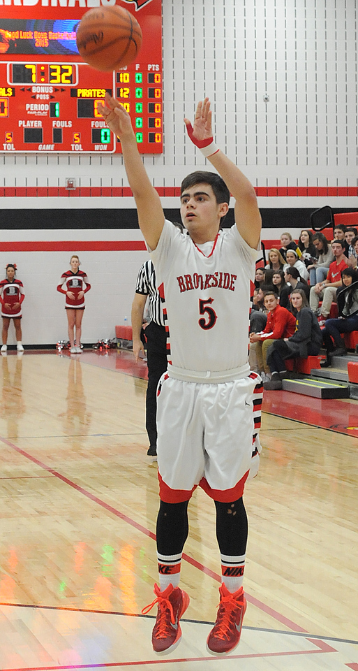 Brookside's Norman Elias shoots Friday, Jan. 29.  STEVE MANHEIM/GAZETTE