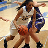 Clearview's Vanecia Billings drives past Vermilion's Theresa Albrethsen on Dec. 12. STEVE MANHEIM / CHRONICLE