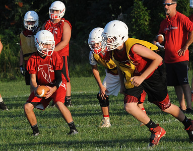 Firelands football players get in some practice Monday.  STEVE MANHEIM / CHRONICLE