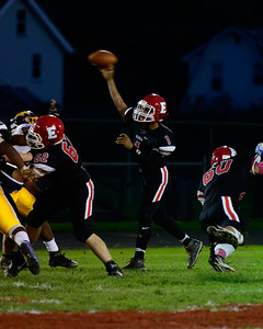 Pioneer QB Donte Beckett completes a pass during their Homecoming game Friday against Euclid. JESSE GRABOWSKI / CHRONICLE