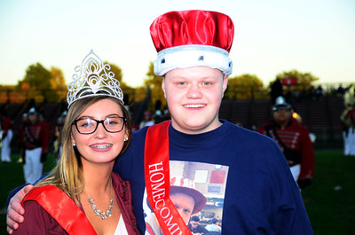 Elyria's Homecoming King and Queen Melanie Garbash and Jacob Stanley. JESSE GRABOWSKI / CHRONICLE