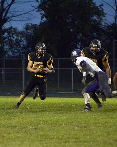 Black River Junior Travis Sexton runs for yards during their homecoming game loss to Keystone. JESSE GRABOWSKI / CHRONICLE