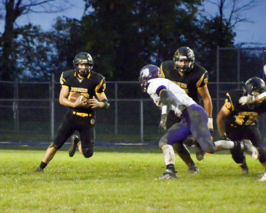 Black River QB Mike Hazlett runs for yards in the loss to Keystone Friday night. JESSE GRABOWSKI / CHRONICLE