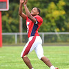 KRISTIN BAUER / CHRONICLE <br /> Oberlin High School's Devan Yarber triples as a running back, wide receiver and quarterback when needed.