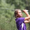 BRUCE BISHOP / CHRONICLE<br /> Sydney Allemeier, 16 of Keystone hits the ball as she nears the end of the tournament at The Links in Olmsted Township.