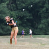 BRUCE BISHOP / CHRONICLE<br /> Elena Zaborniak, 16 of Amherst hits the ball as she nears the end of the tournament at The Links in Olmsted Township.